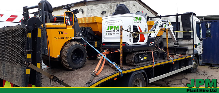 Plant hire delivered