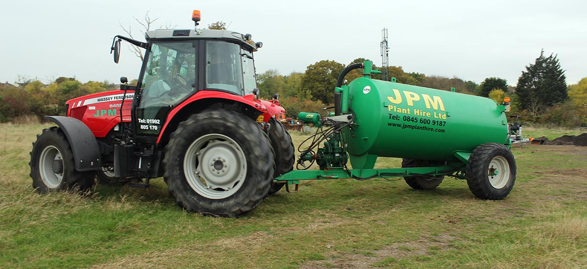 Tractor and bowser hire