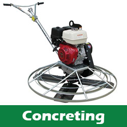 Concreting power trowel and equipment hire North London