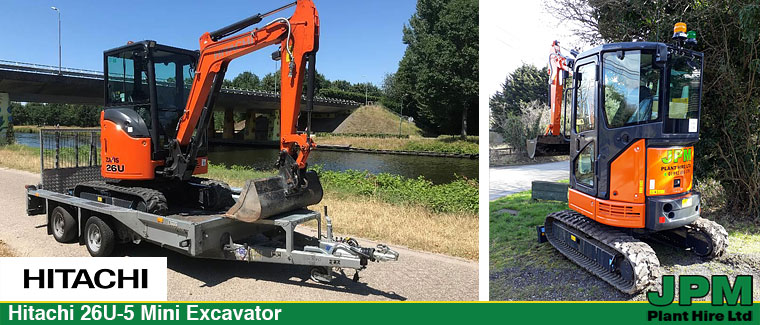 Hitachi-26U-5 Excavator hire