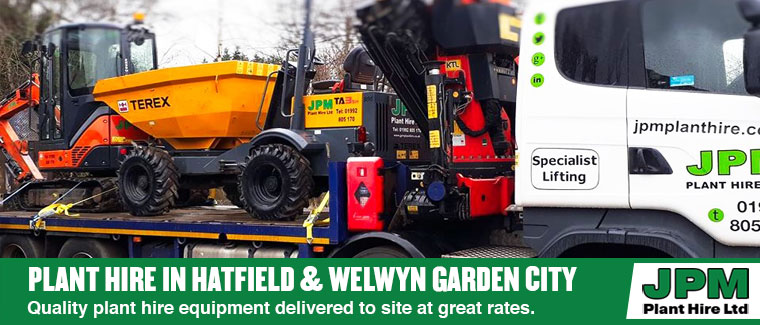 Plant hire in Hatfield